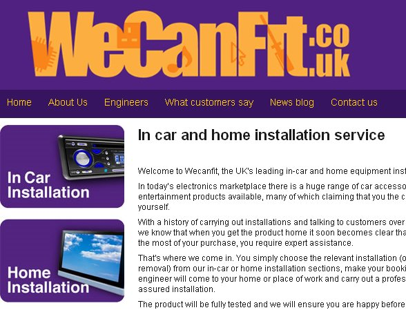 We can fit new web site
