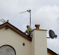 TV aerial installation, Manchester, Cheshire, Lancashire. UK